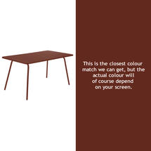 Luxembourg 143 x 80 Table - Red Ochre