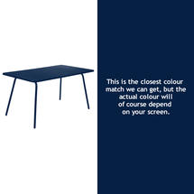 Luxembourg 143 x 80 Table - Deep Blue