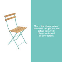 Bistro Natural Chair - Lagoon Blue