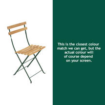 Bistro Natural Chair - Cedar Green