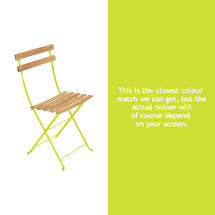 Bistro Natural Chair - Verbena Green