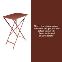 Bistro 37x57 Table - Red Ochre