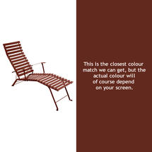 Bistro Lounger - Red Ochre