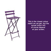 Bistro Tall Chair - Aubergine