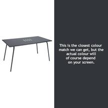 Monceau 146 x 80cm Table - Anthracite