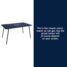 Monceau 146 x 80cm Table - Deep Blue