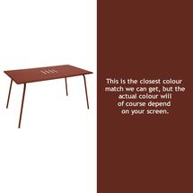 Monceau 146 x 80cm Table - Red Ochre