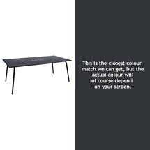 Monceau 194 x 94cm Table - Anthracite
