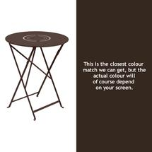 Floreal 60cm Round Table - Russet