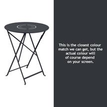 Floreal 60cm Round Table - Anthracite