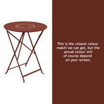 Floreal 60cm Round Table - Red Ochre