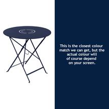 Floreal 77cm Round Table - Deep Blue