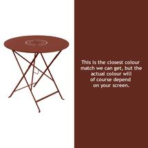 Floreal 77cm Round Table - Red Ochre