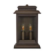 Outdoor Belvedere Wall Lantern - Antiqued Bronze