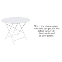 Floreal 96cm Round Table - Cotton White