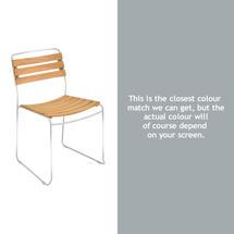 Suprising Teak Chair - Steel Grey