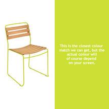 Suprising Teak Chair - Verbena Green