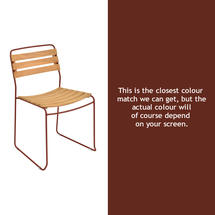Suprising Teak Chair - Red Ochre