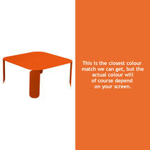 Bebop Square Table - 42cm high - Carrot