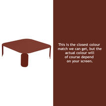 Bebop Square Table - 29cm high - Red Ochre