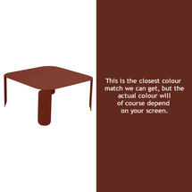 Bebop Square Table - 42cm high - Red Ochre