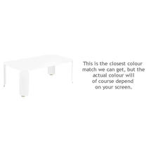 Bebop Rectangular Table - 42cm high - Cotton White