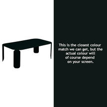 Bebop Rectangular Table - 42cm high - Liquorice