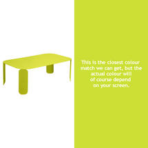 Bebop Rectangular Table - 42cm high- Verbena Green