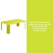 Bebop Rectangular Table - 42cm high- Verbena Green