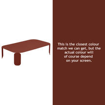 Bebop Rectangular Table - 29cm high - Red Ochre