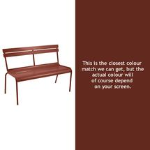 Luxembourg Bench - Red Ochre