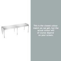 Luxembourg Backless Bench - Steel Grey
