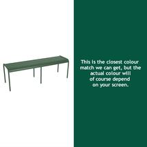 Luxembourg Backless Bench - Cedar Green