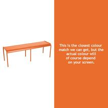 Luxembourg Backless Bench - Carrot