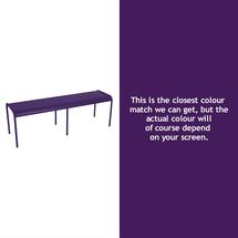 Luxembourg Backless Bench - Aubergine