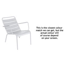 Luxembourg Steel Low Armchair - Cotton White