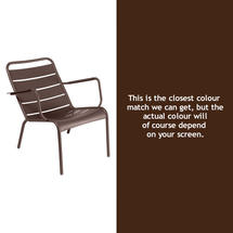 Luxembourg Steel Low Armchair - Russet