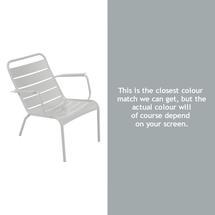 Luxembourg Steel Low Armchair - Steel Grey