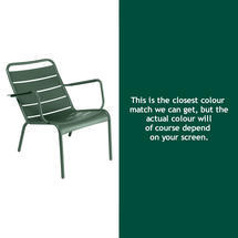 Luxembourg Steel Low Armchair - Cedar Green