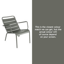 Luxembourg Steel Low Armchair - Rosemary