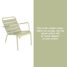 Luxembourg Steel Low Armchair - Willow Green