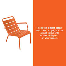 Luxembourg Steel Low Armchair - Carrot