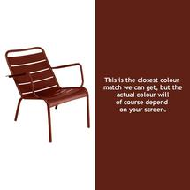 Luxembourg Steel Low Armchair - Red Ochre