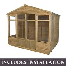 Oakley Summerhouse 8' X 6' with assembly service