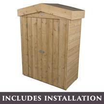 Traditional Shiplap Garden Store with Assembly - Pressure Treated