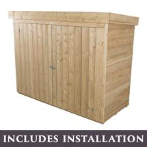 Lean to Overlapped Large Outdoor Store - Pressure Treated with Assembly