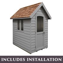 Retreat Shed 6x4 - Painted Pebble Grey