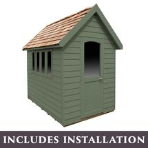 Retreat Shed 8x5 - Painted Moss Green