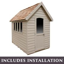 Retreat Shed 8x5 - Painted Natural Cream