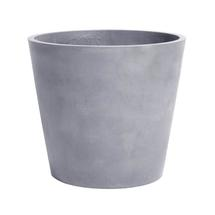 Eco Planter with Wheels - Concrete Grey Conical 60cm